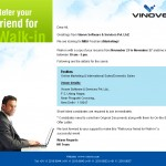 Walk-in for MBA Freshers